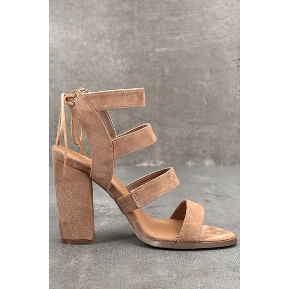 cd5d73e9b Lulu's Shoes | Lulus Sydney Beige Suede High Heel Sandals | Poshmark